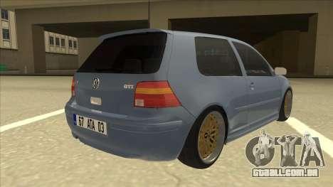 Volkswagen Golf MK4 Gti Eurolook para GTA San Andreas vista direita