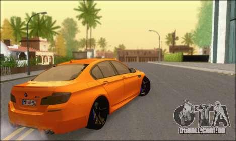 BMW M5 Vossen para GTA San Andreas vista traseira