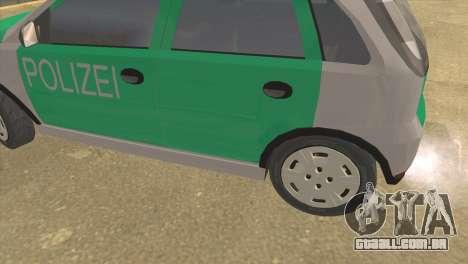 Opel Corsa 1.2 200516V Polizei para GTA San Andreas traseira esquerda vista