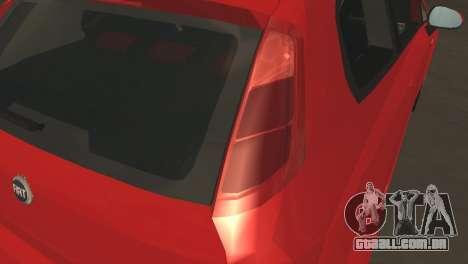 Fiat Grande Punto para GTA San Andreas vista interior
