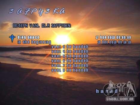 Novo menu para GTA San Andreas terceira tela