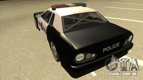 Elegy Police para GTA San Andreas vista traseira