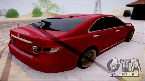 Lexus ES350 2010 para GTA San Andreas vista traseira
