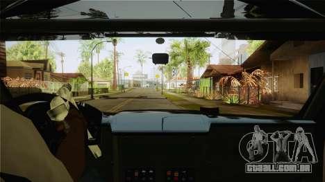 Bowler EXR S 2012 HQLM para GTA San Andreas vista interior
