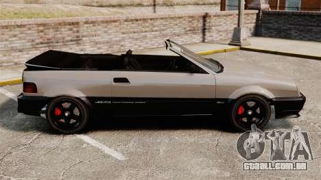 A versão conversível do Blista para GTA 4 esquerda vista