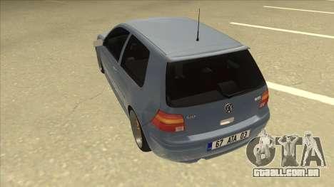 Volkswagen Golf MK4 Gti Eurolook para GTA San Andreas vista traseira