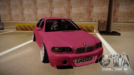 BMW M3 E46 Stance para GTA San Andreas esquerda vista