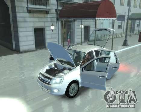 Lada Granta Hatch - VAZ 2191 para GTA 4 traseira esquerda vista