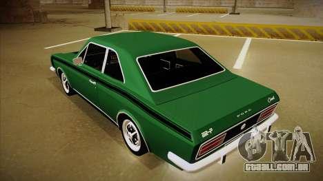 Ford Corcel GT 1975 para GTA San Andreas vista traseira