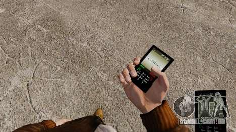 Temas para roupas de marcas de telefones para GTA 4 terceira tela