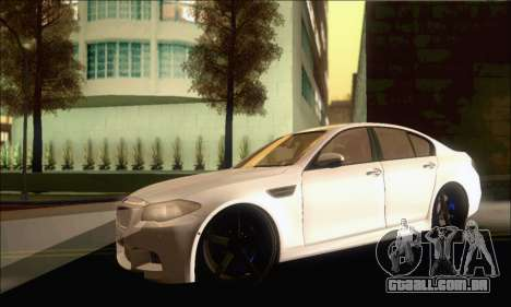 BMW M5 Vossen para GTA San Andreas esquerda vista