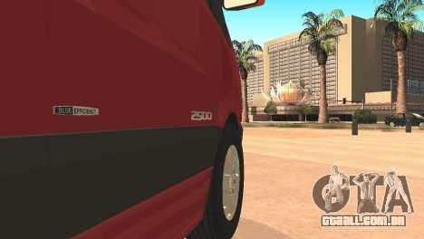 Mercedes-Benz Sprinter para GTA San Andreas esquerda vista