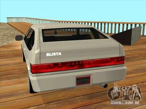 Blista Compact para GTA San Andreas esquerda vista