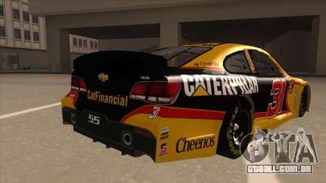 Chevrolet SS NASCAR No. 31 Caterpillar para GTA San Andreas vista direita