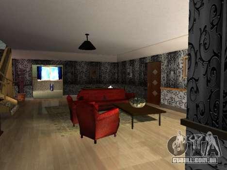 Novo edifício de 2 andares interior CJ para GTA San Andreas segunda tela