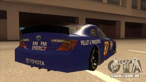 Toyota Camry NASCAR No. 87 AM FM Energy para GTA San Andreas vista direita