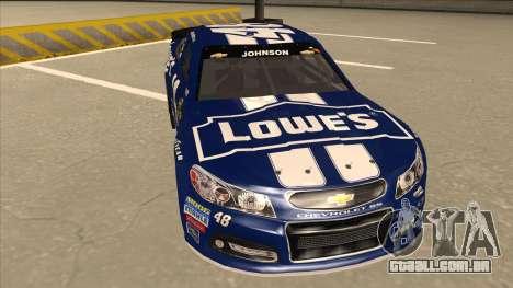 Chevrolet SS NASCAR No. 48 Lowes blue para GTA San Andreas esquerda vista