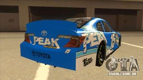 Toyota Camry NASCAR No. 15 Peak para GTA San Andreas vista direita