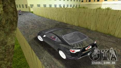 Subaru BRZ Type 2 para GTA Vice City vista direita