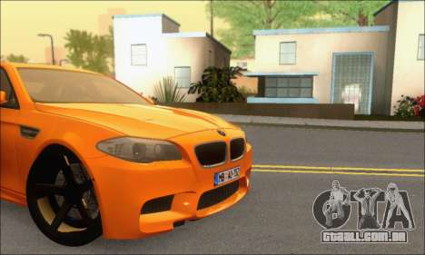 BMW M5 Vossen para GTA San Andreas vista interior