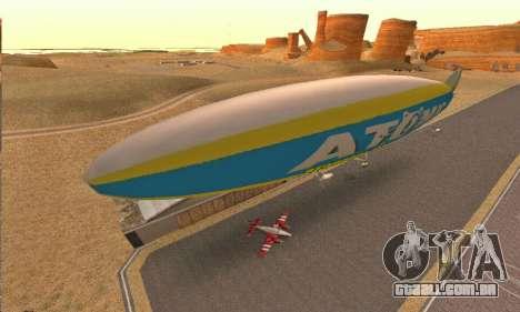 Zepellin GTA V para GTA San Andreas esquerda vista