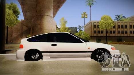 Honda CRX JDM Style para GTA San Andreas traseira esquerda vista