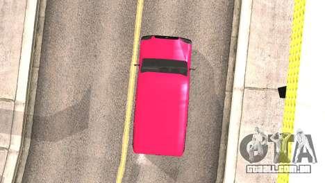Fiat Doblo para GTA San Andreas vista interior