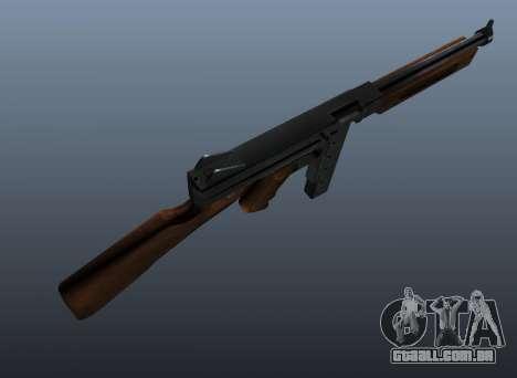 V2 de metralhadora M1a1 Thompson para GTA 4 terceira tela