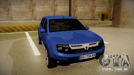 Dacia Duster SUV 4x4 para GTA San Andreas esquerda vista