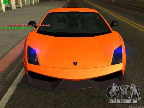 Lamborghini Gallardo LP560-4 SL UGR Altecho para GTA San Andreas esquerda vista
