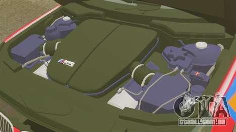 BMW M5 E60 Metropolitan Police 2010 ARV [ELS] para GTA 4 vista interior