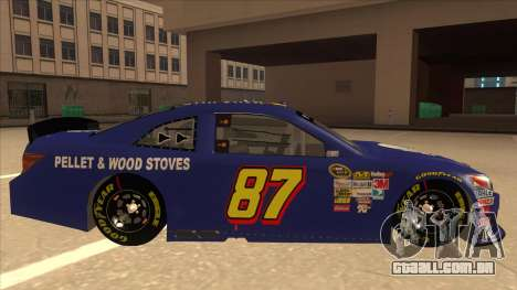 Toyota Camry NASCAR No. 87 AM FM Energy para GTA San Andreas traseira esquerda vista