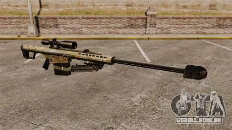 O Barrett M82 sniper rifle v14 para GTA 4