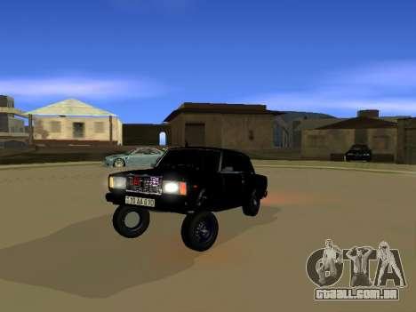 ВАЗ 2107 para GTA San Andreas esquerda vista