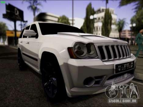 Jeep Grand Cherokee SRT8 para GTA San Andreas vista traseira
