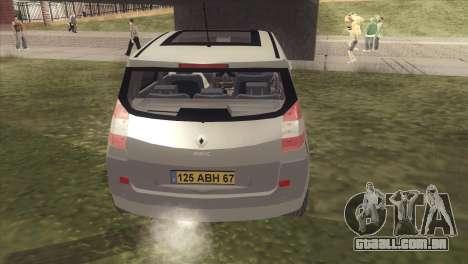 Renault Scenic 2 para GTA San Andreas vista direita