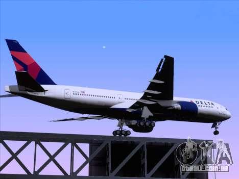 Boeing 777-200ER Delta Air Lines para GTA San Andreas vista superior