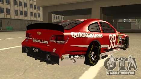 Chevrolet SS NASCAR No. 39 Quicken Loans para GTA San Andreas vista direita