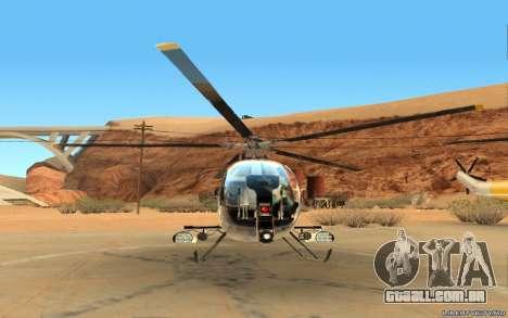 Buzzard Attack Chopper para GTA San Andreas esquerda vista
