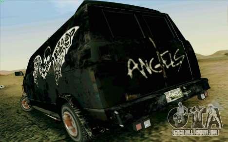 Gang Burrito para GTA San Andreas traseira esquerda vista