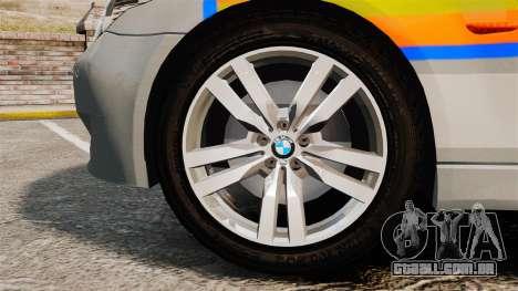 BMW M5 E60 Metropolitan Police 2006 ARV [ELS] para GTA 4 vista de volta
