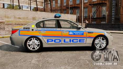BMW M5 E60 Metropolitan Police 2006 ARV [ELS] para GTA 4 esquerda vista