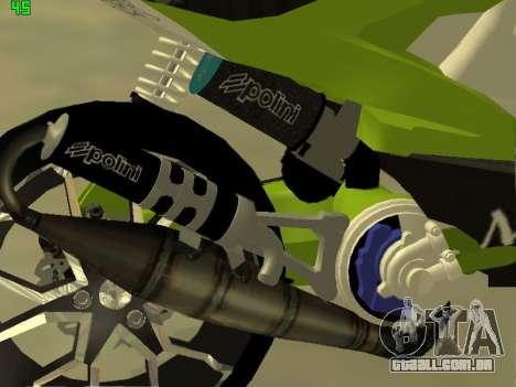 Yamaha Aerox para GTA San Andreas vista direita