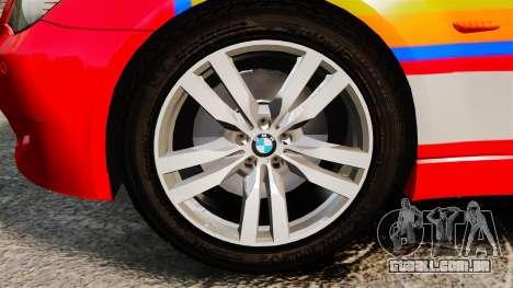 BMW M5 E60 Metropolitan Police 2010 ARV [ELS] para GTA 4 vista de volta
