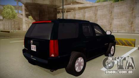 Cadillac Escalade 2011 Unmarked FBI para GTA San Andreas vista direita