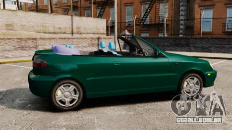 Daewoo Lanos 1997 Cabriolet Concept v2 para GTA 4 esquerda vista