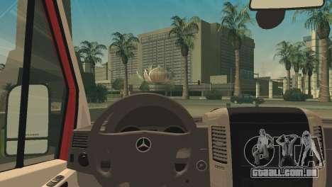 Mercedes-Benz Sprinter para GTA San Andreas traseira esquerda vista