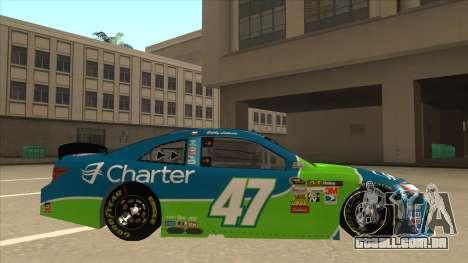 Toyota Camry NASCAR No. 47 Charter para GTA San Andreas traseira esquerda vista