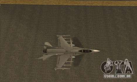 Hydra GTA V para GTA San Andreas traseira esquerda vista