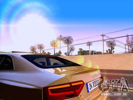 Audi RS5 2012 para GTA San Andreas vista superior